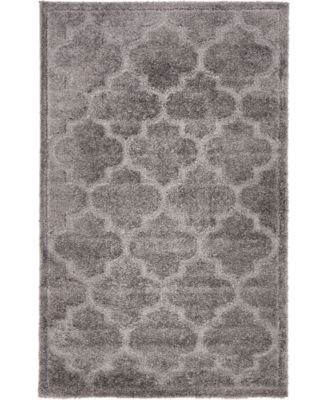 Filigree Shag Fil2 Dark Gray 5' x 8' Area Rug