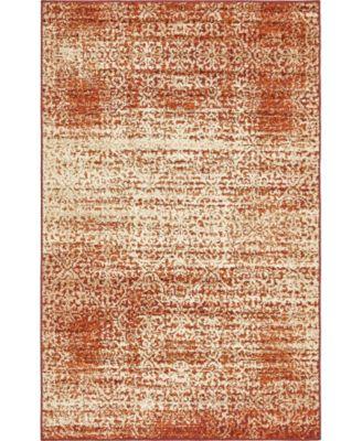 Jasia Jas08 Terracotta 5' x 8' Area Rug