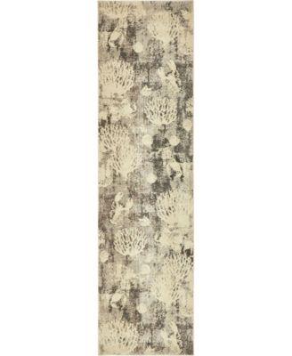 """Ikbal Ikb3 Light Gray 2' 7"""" x 10' Runner Area Rug"""