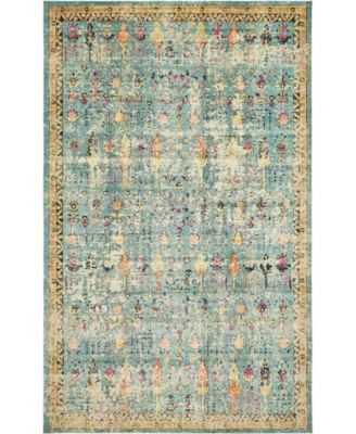 "Newhedge Nhg6 Blue 10' 6"" x 16' 5"" Area Rug"