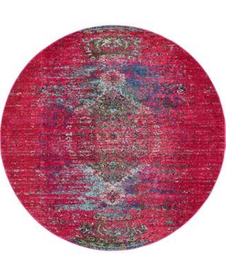 Brio Bri6 Pink 8' x 8' Round Area Rug