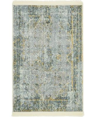 "Kenna Ken1 Gray 2' 2"" x 3' Area Rug"