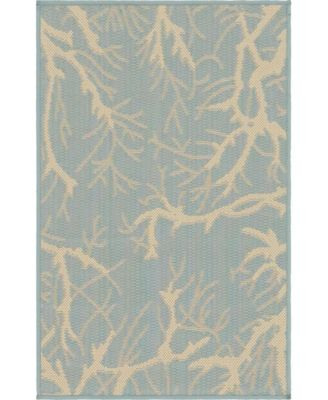 Pashio Pas6 Light Blue 2' x 3' Area Rug