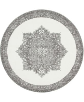 Mishti Mis6 Gray 8' x 8' Round Area Rug