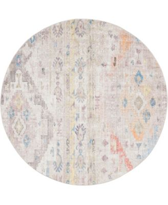 Nira Nir2 Ivory/Beige 8' x 8' Round Area Rug