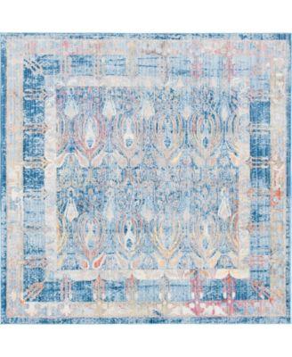 Zilla Zil2 Blue 8' x 8' Square Area Rug