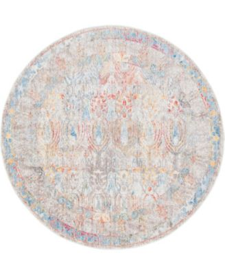 Zilla Zil2 Ivory 6' x 6' Round Area Rug
