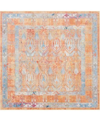 Zilla Zil2 Orange 8' x 8' Square Area Rug