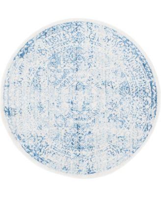 "Zilla Zil3 Light Blue 3' 3"" x 3' 3"" Round Area Rug"