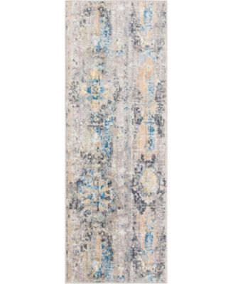 "Nira Nir1 Light Brown 2' 2"" x 6' Runner Area Rug"