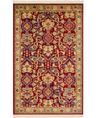 Borough Bor1 Red 5' x 8' Area Rug