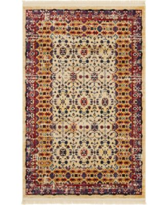 Borough Bor2 Beige 5' x 8' Area Rug