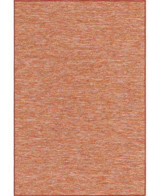 """Pashio Pas8 Terracotta 4' 2"""" x 6' Area Rug"""