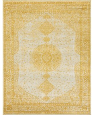 Mobley Mob1 Yellow 8' x 10' Area Rug