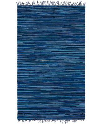 Jari Striped Jar1 Navy Blue 5' x 8' Area Rug