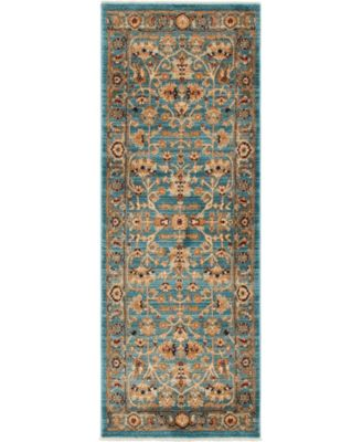 """Thule Thu1 Turquoise 2' 2"""" x 6' Runner Area Rug"""