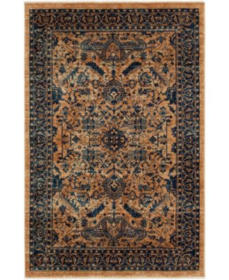 Thule Thu5 Navy Blue 5' x 8' Area Rug