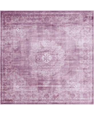 Anika Ani1 Violet 8' x 8' Square Area Rug