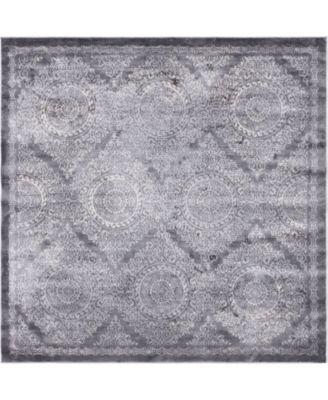 Anika Ani3 Gray 8' x 8' Square Area Rug