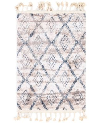 "Levia Lev2 Beige/Gray 2' 4"" x 3' 3"" Area Rug"