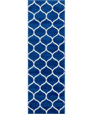 Plexity Plx2 Navy Blue 2' x 6' Runner Area Rug