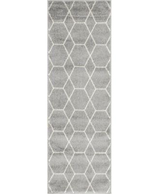 Plexity Plx1 Light Gray 2' x 6' Runner Area Rug