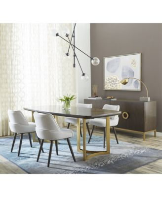 Hotel Collection Derwick Dining Furniture, 5-Pc. Set (Table & 4 Side Chairs), Created for Macy's