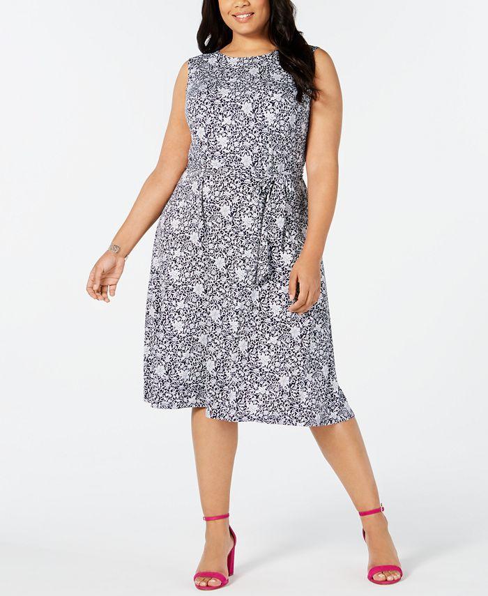 Charter Club - Plus Size Sleeveless Midi Dress
