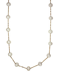 """EFFY® Cultured Freshwater Pearl Station 18"""" Necklace in 14k Gold (5-1/2mm)"""