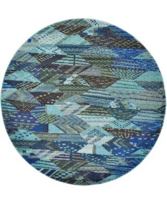CLOSEOUT! Arcata Arc4 Blue 6' x 6' Round Area Rug