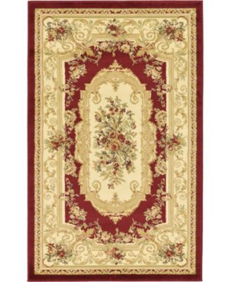 "Belvoir Blv3 Red 3' 3"" x 5' 3"" Area Rug"