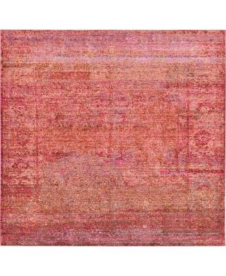 Malin Mal8 Red 8' x 8' Square Area Rug