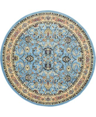 Arnav Arn1 Light Blue 8' x 8' Round Area Rug