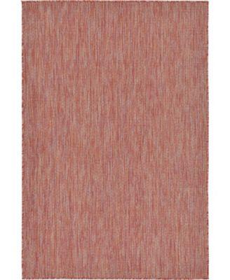 Pashio Pas6 Rust Red 4' x 6' Area Rug