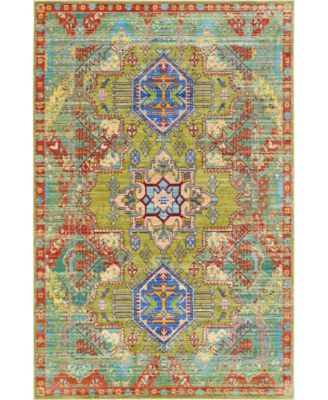 Malin Mal5 Light Green 5' x 8' Area Rug