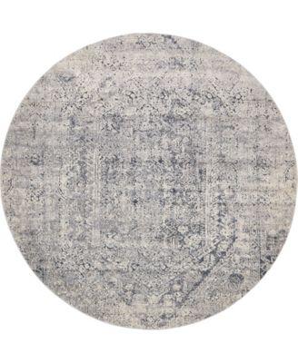 Odette Ode1 Gray 8' x 8' Round Area Rug