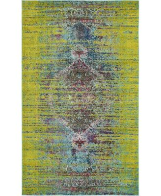 Brio Bri6 Green 5' x 8' Area Rug