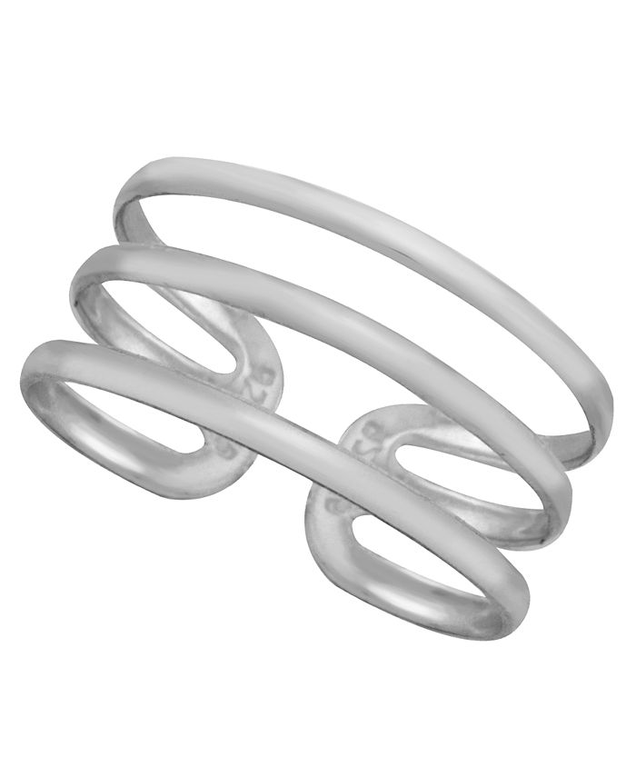 Giani Bernini - Sterling Silver Triple Band Adjustable Toe Ring