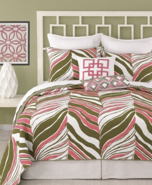 Trina Turk Bedding, Tiger Leaf Printed Coverlet Collection
