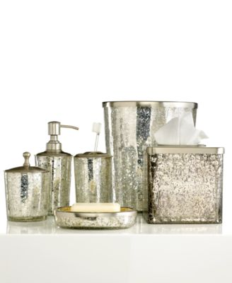 Paradigm Bath Accessories, Crackle Glass Ice Soap and Lotion Dispenser