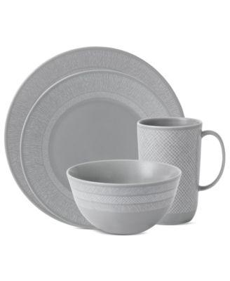 Vera Wang Wedgwood Dinnerware, Simplicity Gray 4 Piece Place Setting