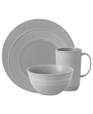 Vera Wang Wedgwood Dinnerware, Simplicity Gray 4 Piece Place Setting