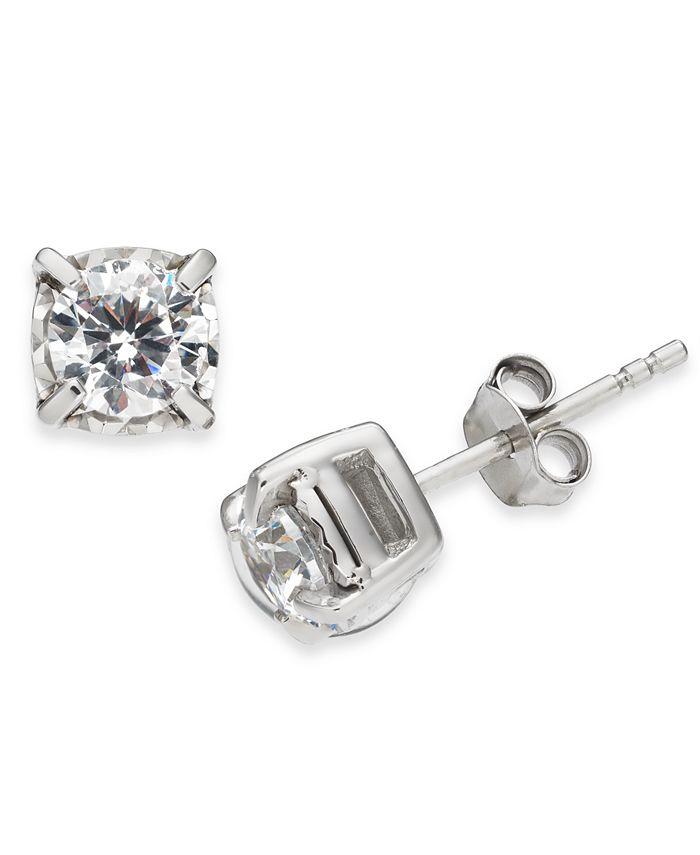 Macy's - Diamond Stud Earrings (1 ct. t.w.) in 14k White Gold