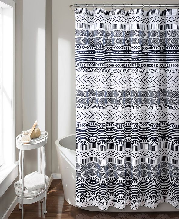 "Lush Decor Hygge Geo 72"" x 72"" Shower Curtain"