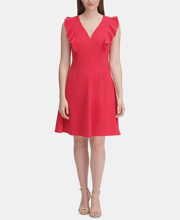 Tommy Hilfiger - Ruffle-Sleeve Fit & Flare Dress