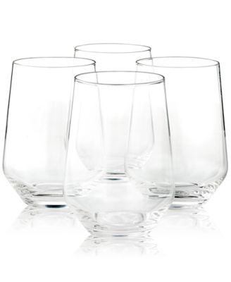 Stemless Wine Glasses, Set of 4, Created for Macy's