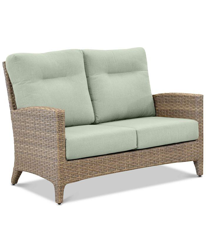 Furniture - Grand Stafford Outdoor Loveseat with Sunbrella® Cushions