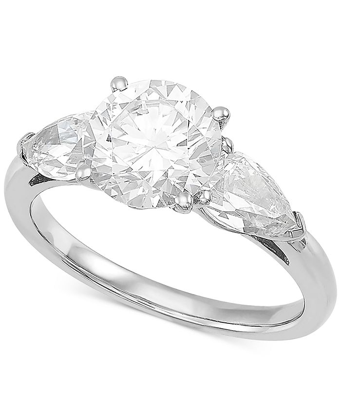 Grown With Love - Lab Grown Diamond Three Stone Engagement Ring (3 ct. t.w.) in 14k White Gold