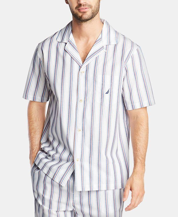 Nautica - Men's Cotton Striped Pajama Shirt