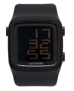 Converse Watch Unisex Digital Scoreboard Black Silicone Strap 43mm VR002001
